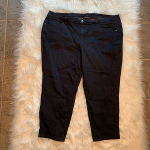 Lane Bryant Plus Size Cropped Jeans Black